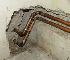 Main water pipes